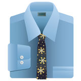 Christmas snowflake tie Royalty Free Stock Images