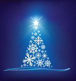 Christmas snowflake tree Royalty Free Stock Photos