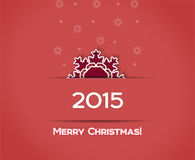 Christmas snowflake vector red  background Royalty Free Stock Images