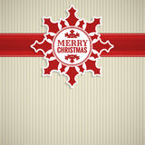 Christmas snowflake vintage card Royalty Free Stock Photography