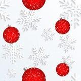 Christmas Snowflake White Background stock photos