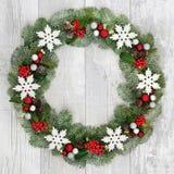 Christmas Snowflake Wreath Royalty Free Stock Photo