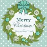 Christmas snowflake wreath Stock Photo