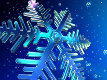 Christmas snowflakes. Snowflakes falling from the sky Royalty Free Stock Image