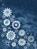 Christmas snowflakes stock image