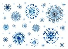 Christmas snowflakes Stock Photo