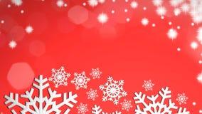 Christmas snowflakes. 3d Christmas snowflakes on red background Stock Photos