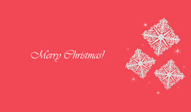 Christmas snowflakes. Merry Christmas! Card with frozen pattern Stock Photos