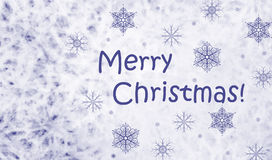 Christmas snowflakes. Merry Christmas! Card with frozen pattern Royalty Free Stock Photo