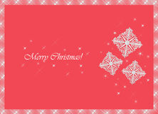 Christmas snowflakes. Merry Christmas! Card with frozen pattern Royalty Free Stock Image