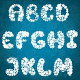 Christmas snowflakes alphabet Royalty Free Stock Image