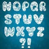 Christmas snowflakes alphabet Stock Photography