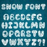 Christmas snowflakes alphabet Royalty Free Stock Photos