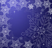 Christmas Snowflakes Background. In blue tones Stock Image