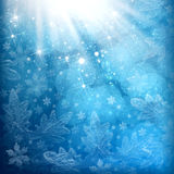 Christmas snowflakes background Royalty Free Stock Photo
