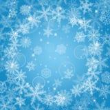 Christmas snowflakes background Royalty Free Stock Photo