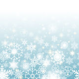 Christmas snowflakes background. Christmas blue background with snowflakes horizontal seamless pattern Royalty Free Stock Image