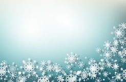 Christmas snowflakes background. Blue Christmas snowflakes background. Vector Illustration Royalty Free Stock Photo