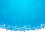 Christmas snowflakes background. Blue christmas snowflakes background for Your design Royalty Free Stock Photo