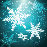 Christmas snowflakes background. Stock Photography