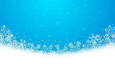 Christmas snowflakes background. With copy space for Your design Stock Images