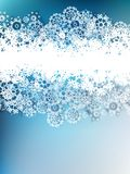 Christmas snowflakes background. EPS 10 Stock Photography