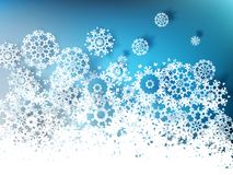 Christmas snowflakes background. EPS 10 Royalty Free Stock Photography
