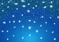 Christmas snowflakes background. Christmas background of falling snowflakes Vector Illustration