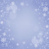 Christmas Snowflakes Background. Holiday Blue Card Royalty Free Stock Photo