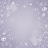 Christmas snowflakes background. Holiday Card Royalty Free Stock Photos