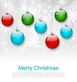 Christmas Snowflakes Background Royalty Free Stock Images