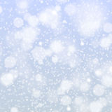 Christmas snowflakes background vector blue light abstract Royalty Free Stock Photo