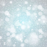 Christmas snowflakes background vector blue light abstract Stock Photography