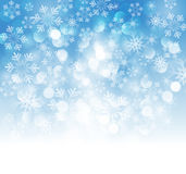 Christmas snowflakes background Royalty Free Stock Image