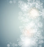 Christmas Snowflakes Background Vector Royalty Free Stock Image