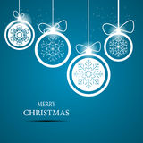 Christmas snowflakes background vector Stock Photo
