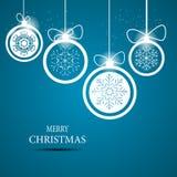 Christmas snowflakes background vector Stock Photo