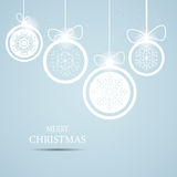 Christmas snowflakes background vector Royalty Free Stock Photos