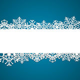 Christmas snowflakes background vector Stock Photography