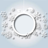 Christmas snowflakes background vector 2. Christmas snowflakes background white paper round ball Stock Photo