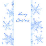 Christmas snowflakes background. Royalty Free Stock Photos