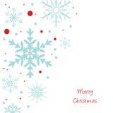 Christmas snowflakes background. Christmas snowflakes on white background Stock Image