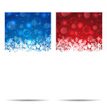 Christmas snowflakes banners with light effect Royalty Free Stock Photography