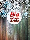 Christmas snowflakes with big sale. Stock Photography