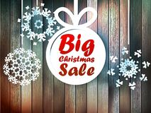 Christmas snowflakes with big sale. Royalty Free Stock Photos