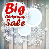 Christmas snowflakes with big sale. Royalty Free Stock Photo