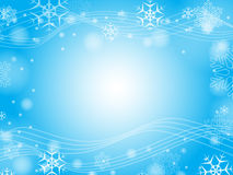 Christmas snowflakes in blue Stock Photography