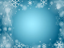 Christmas snowflakes in blue 2 Stock Photo