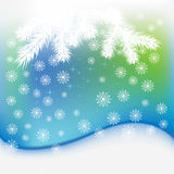 Christmas snowflakes blue  background Stock Image