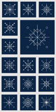 Christmas Snowflakes on the blue background Stock Image
